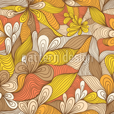Spinning Gold Flowers Design Pattern