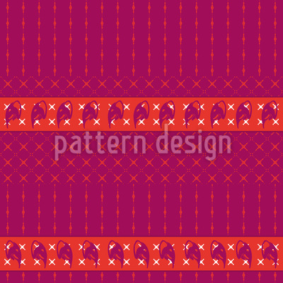 Elephant Migration Seamless Vector Pattern Design