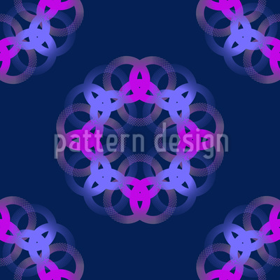 Soft Rings Seamless Pattern