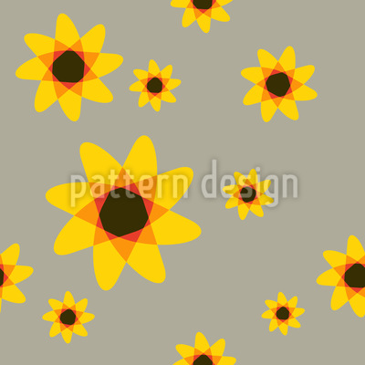 Sunflowers Seamless Vector Pattern