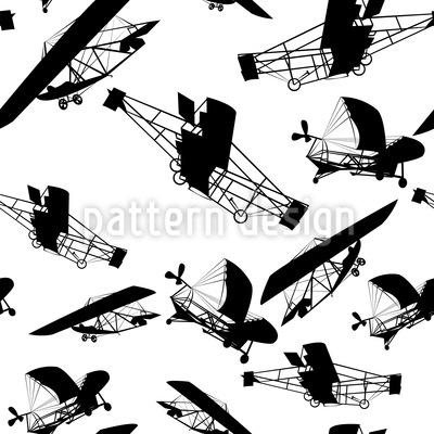 Die Flugzeuge Der Gebrüder Wright Nahtloses Vektormuster