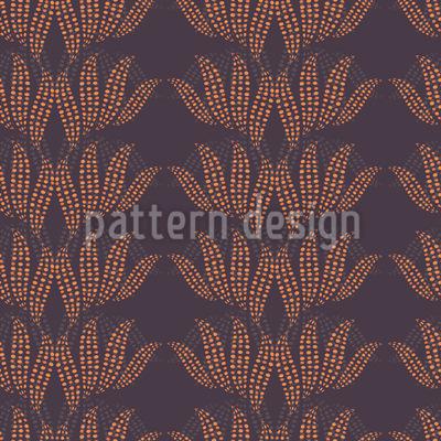 Pünktchen Blätter Musterdesign