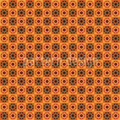 Floral Summer Tiles Pattern Design