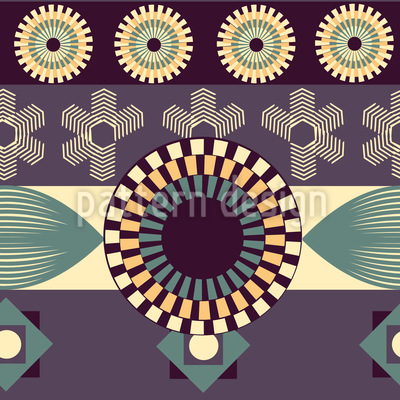 Vintage Geometry Vector Ornament