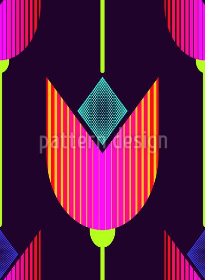 Tulpen Avantgarde Nahtloses Vektor Muster