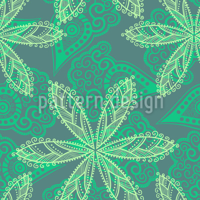 Floral Oriental Seamless Vector Pattern Design