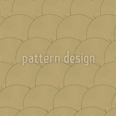 Golden Circles Vector Pattern