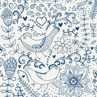 Notebook Fantasies Seamless Vector Pattern Design
