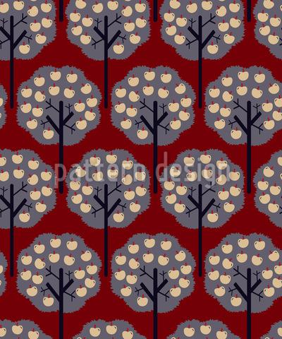 Apfelbäume Im Winter Nahtloses Vektor Muster