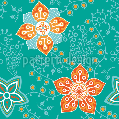 Blumengruss Sankt Petersburg Vektor Muster