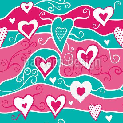 Sweet Heart Ocean Vector Design