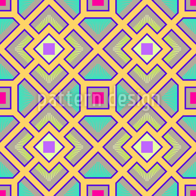 The Square Labyrinth Seamless Vector Pattern