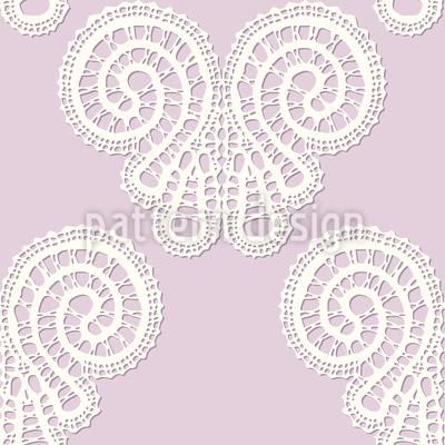 Soft Lace Butterflies  Seamless Pattern