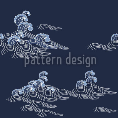Sea Waves Pattern Design