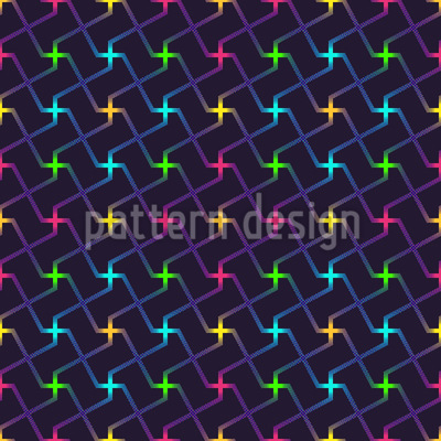 Neon Junction Seamless Vector Pattern
