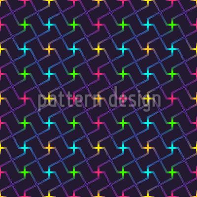 Neon Kreuzung Nahtloses Vektor Muster