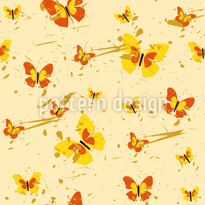 Action Painting Butterfly Seamless Vector Pattern Design