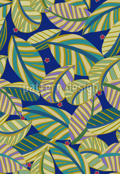 Stars Over The Jungle Vector Pattern