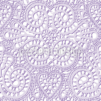 Lace Love Seamless Vector Pattern Design