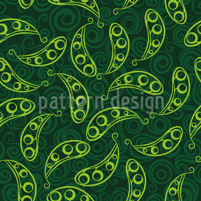 Wild Peas Vector Ornament