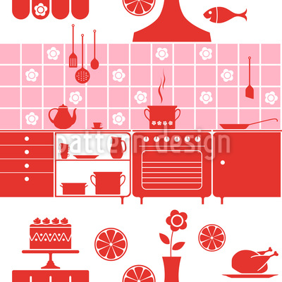 This Kitchen Brings Joy Repeat Pattern