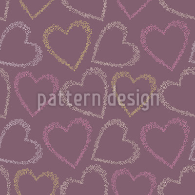 From The Heart Repeat Pattern