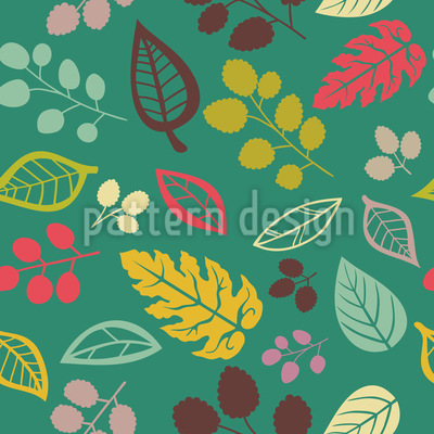 Blätter Zu Lieben Muster Design