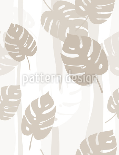 Beige Leaves Seamless Vector Pattern Design