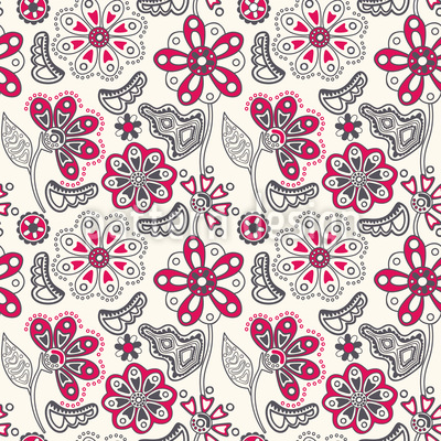 Flower Magic Minsk Repeating Pattern