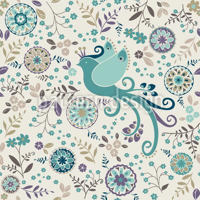 The Bird Queen In Her Winter Dress Pattern Design
