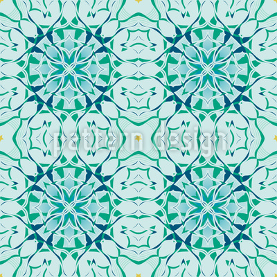 Arctic Floral Repeating Pattern