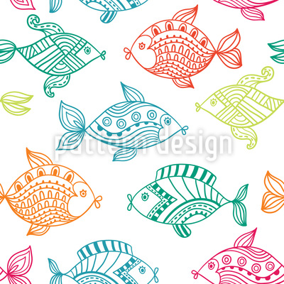 Fish In The Aquarium Pattern Design