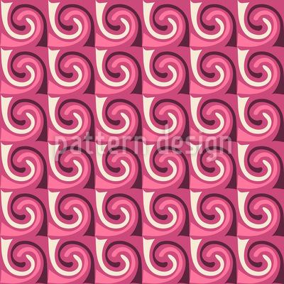 Schaumzucker Wellen Nahtloses Vektor Muster