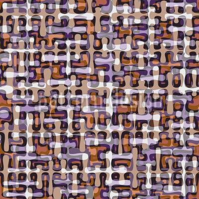 Retro Tropfen Labyrinth Vektor Muster
