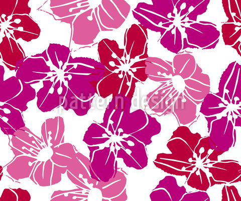 Flowers From Hawaii Seamless Vector Pattern Design