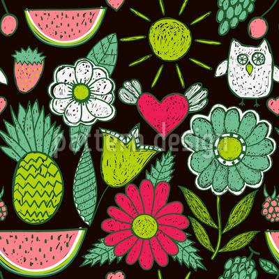 Happy Holidays Seamless Vector Pattern Design