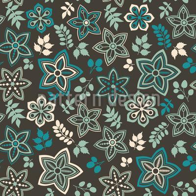 Blüten Und Blatt Fantasie Vektor Design