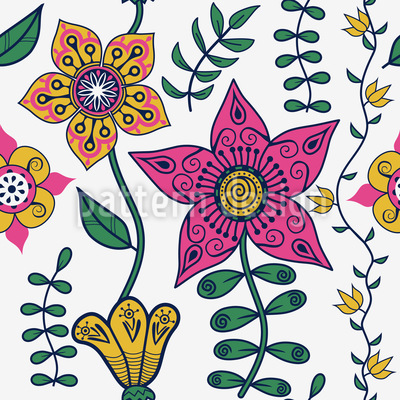 Flowers Of The East Repeating Pattern