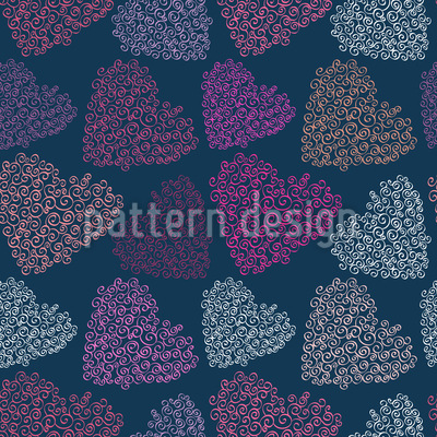 Fine Hearts Of Desire Pattern Design