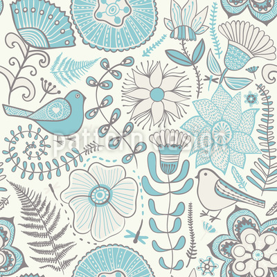 Winter Paradise Seamless Vector Pattern Design