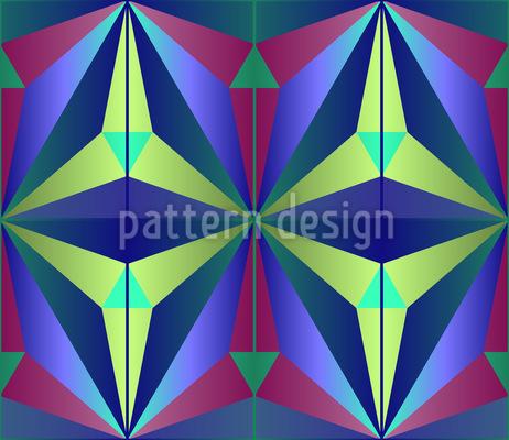 Mysteriöse Geometrie  Nahtloses Vektor Muster