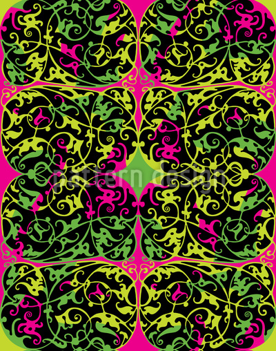 Pop Art Renaissance Vector Pattern