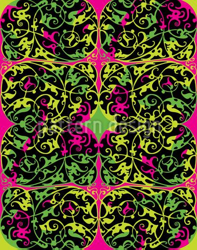 Pop Art Renascimento Design de padrão vetorial sem costura