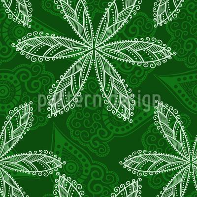 Endlos Floral Vektor Muster