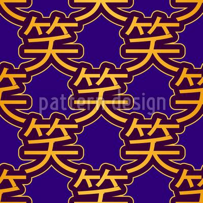 Japanisches Lachen Vektor Design
