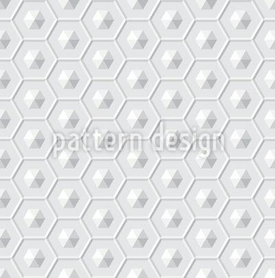Spaceship Hexagon Vector Ornament
