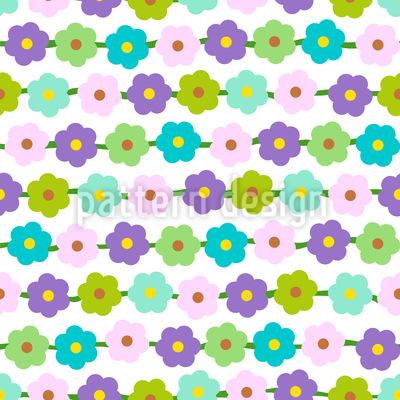 Blumenketten Nahtloses Vektor Muster