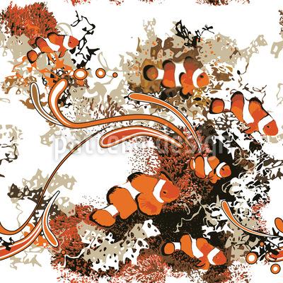 Clownfische Muster Design
