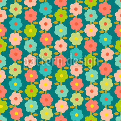 Vintage Garden Seamless Vector Pattern Design