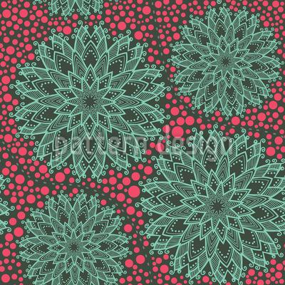 Desert Beauties On Dots Seamless Vector Pattern